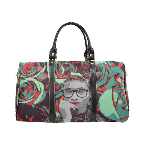 Aqua Rose Travel Bag