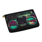 Peacock BoomBox  Carry-All Pouch 12.5''x8.5''