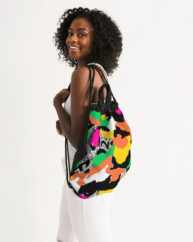 ™️ Neon 2&Fro Camo Canvas Drawstring Bag