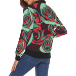 Dope Rose Teal Bomber jacket - Ladies