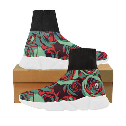 Dope Rose Teal Mock Sock Shoes