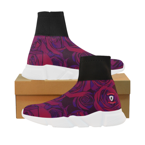 Dope Rose Plum Mock Sock Shoes