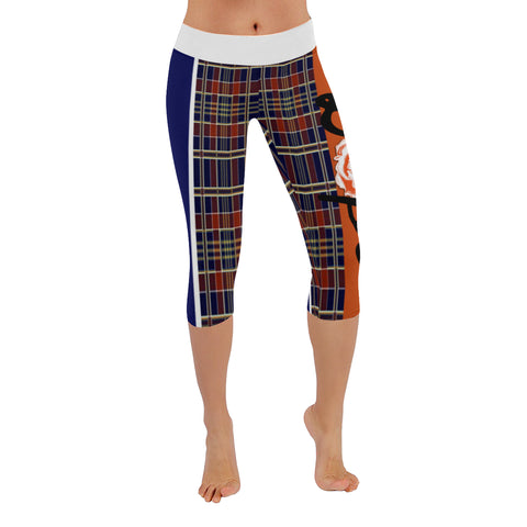 Mad Plaid Low Rise Capri Leggings XXS-5XL