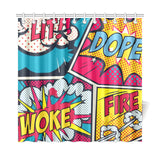 "Woke Shower Curtain 72""x72"""