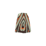 Calypso skater skirt - gray/orange