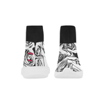Dope Rose BlackWhite Mock Sock Shoes