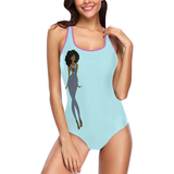 Peacock Tail Feather One Piece Swimsuit