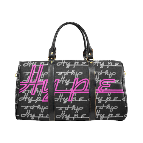 Hype Waterproof Travel Bag/Small (Black/pink)