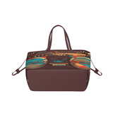 Retro BoomBox Teal/Gold tote