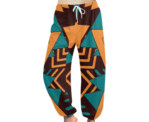 Retro Yoga / Lounge pants (Teal)