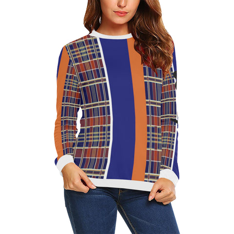 Mad Plaid Stripe Sleeve Sweaters : 2 options