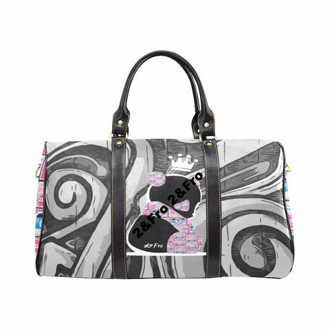 Panda Royalty (Nuclear Pink) - Large travel bag