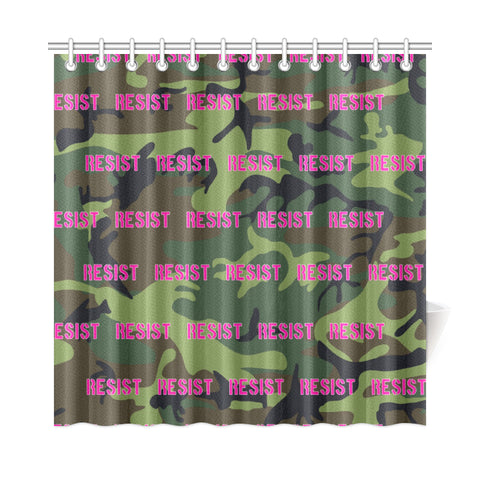"Camo Pink Resist Shower Curtain 72""x72"""