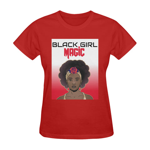 Women's Red & White BGM Tee