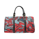 Rap Battle Waterproof Travel Bag - Red