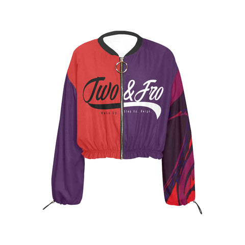 Purple CB Cropped Jacket