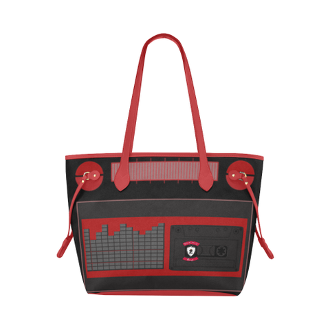 Retro BoomBox Tote (red trim)