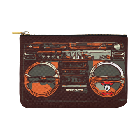 Orangey BoomBox Carry-All Pouch 12.5''x8.5''