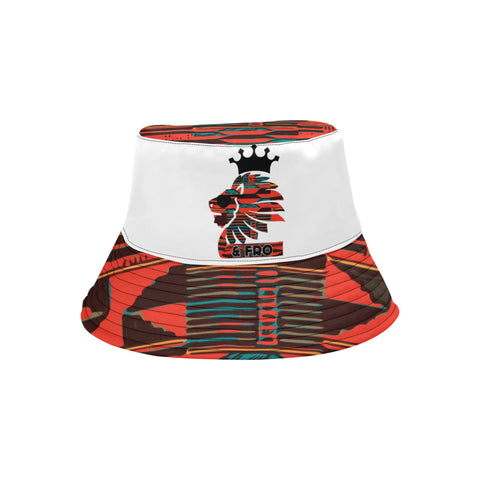 Orange Kente Bucket Hat