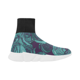 Dope Rose Blue Mock Sock Shoes