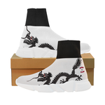 White dragon mock sock shoe