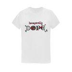Incomparably Dope Rose Teal tee
