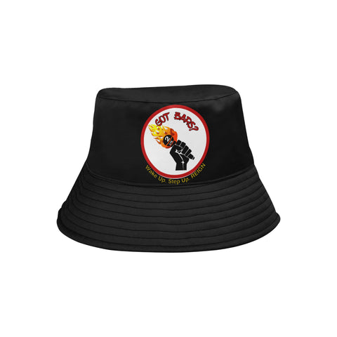 "Black ""Got Bars?"" Bucket Hat"
