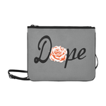 Dope Orange Rose slim clutch