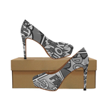 Woke Comic (Grayscale) High Heels