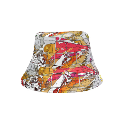 White Signature Burst Bucket Hat