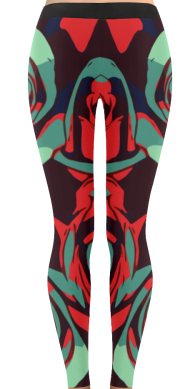 Dope Rose Leggings - Teal