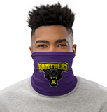 Panther purple gold face covering