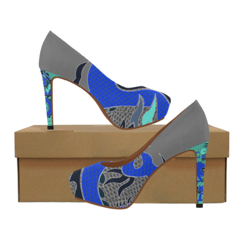 Blue Dragon Heels - 3 Colors