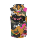 Fly Girl Camo  - hoodie vest / 6 colors