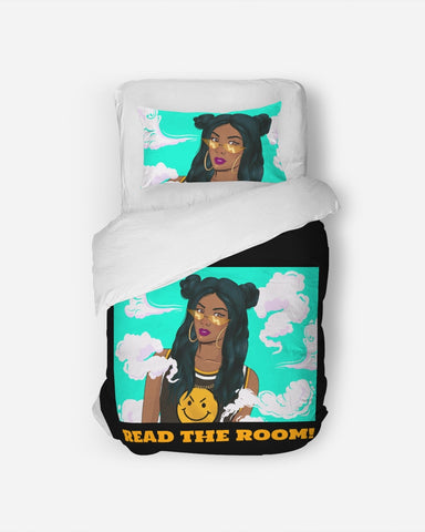 Read The Room! Twin Duvet Cover Set