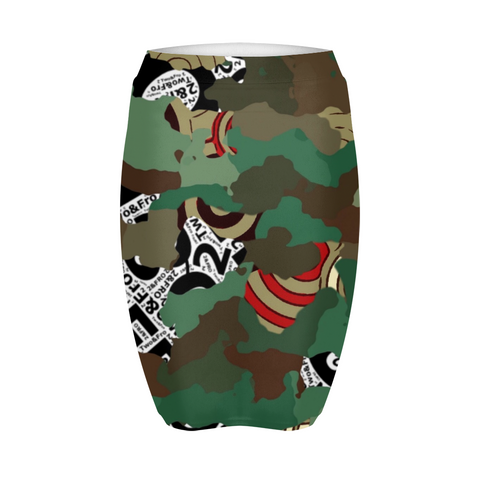 © 2&Fro Green Camo print Women's Mini Skirt