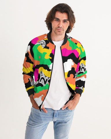 ™️ Neon 2&Fro Camo Men's Bomber Jacket
