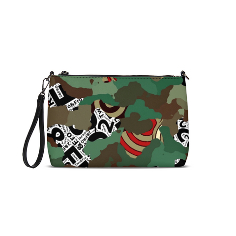 © 2&Fro Green Camo Clutch/Bag