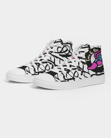 Numbers Women's Hightop Canvas Shoe