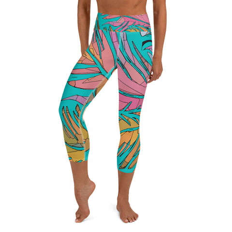 Savage (teal) Yoga Capri Leggings