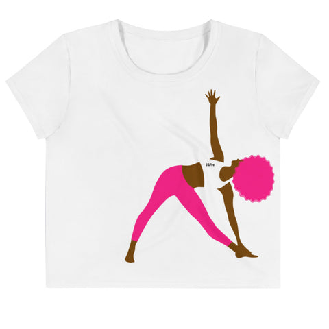 Triangle Yoga Crop Tee