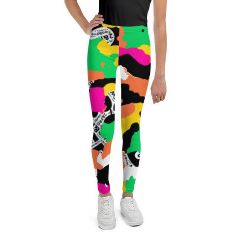 Neon 2&Fro Camo Leggings 4 Kids
