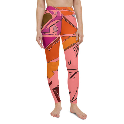 distraction peach Yoga Leggings