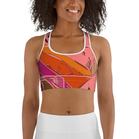 Peach Burst Sports Bra