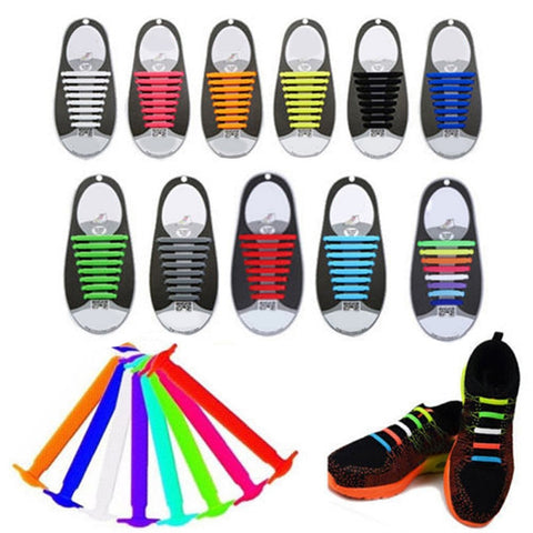 No Tie Elastic Shoelaces - 11 Colors