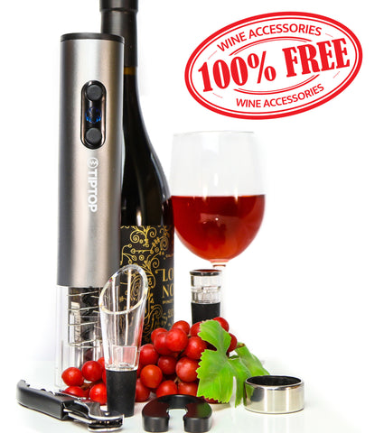 PROMOTION! - Electric Wine Opener + 5 wine accessories! (Free Shipping)