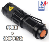 Mini Tactical Flashlight Free + Shipping & Handling!
