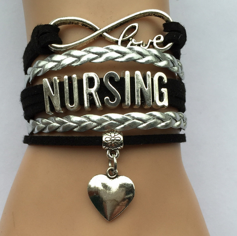 """Nursing"" Wrap Bracelet (One Color)"
