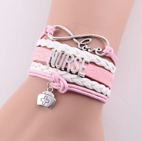 """Nurse"" Wrap Bracelet, (Four Colors)"
