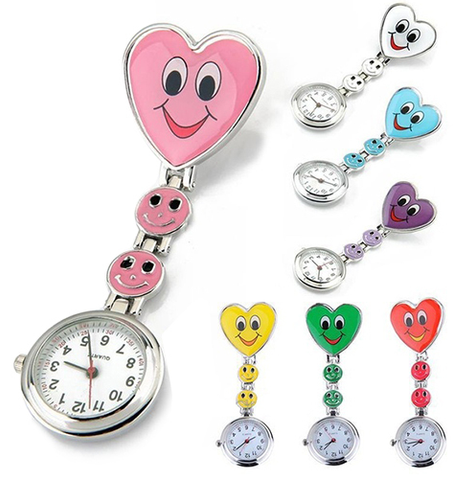 Multi Color Nurse Smiling Fob Watches